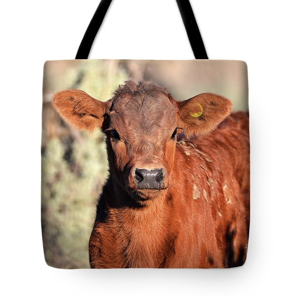 Red Calf Tote Bag