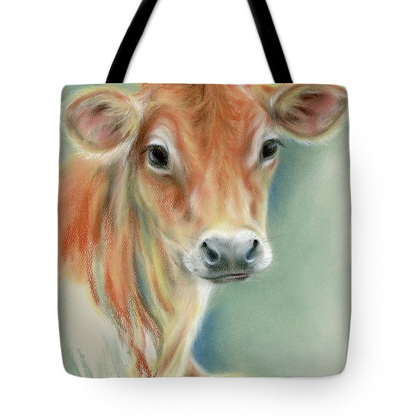 Red Calf Portrait Tote Bag