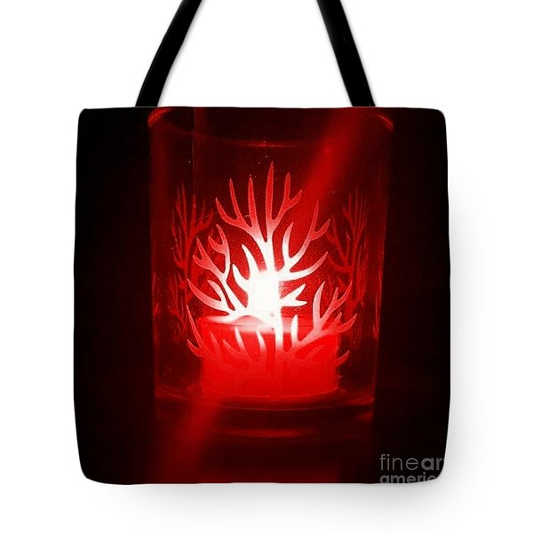 Red Candle Light Tote Bag