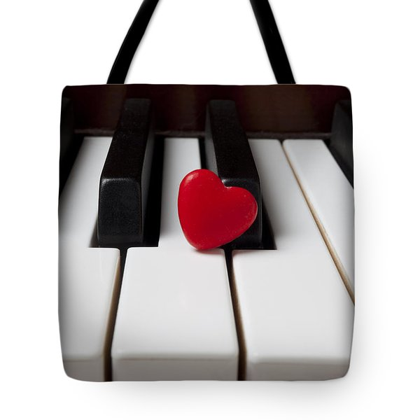 Red Candy Heart  Tote Bag by Garry Gay