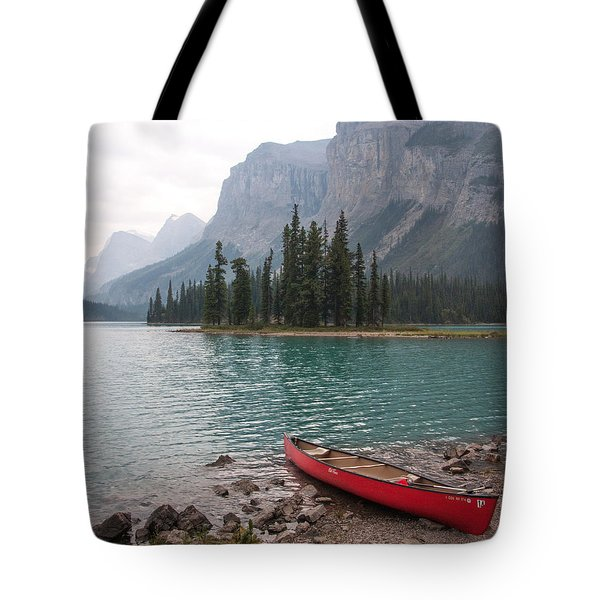 Red Canoe Tote Bag by Catherine Alfidi