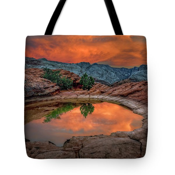 Red Canyon Reflection Tote Bag