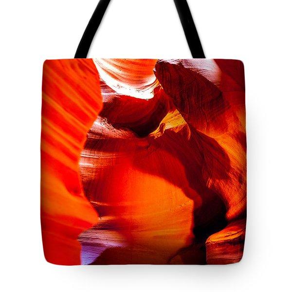 Red Canyon Walls Tote Bag