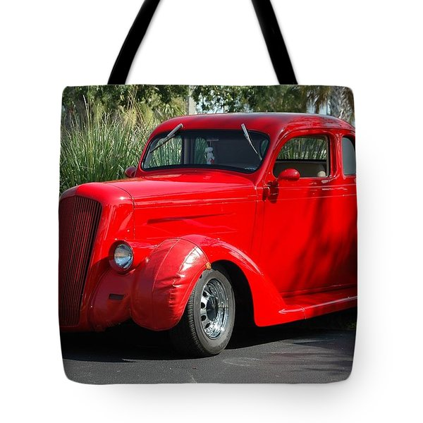 Red Car Tote Bag