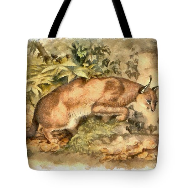 Red Caracal Tote Bag
