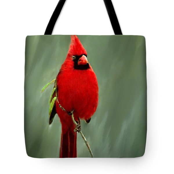 Red Cardinal Painting Tote Bag