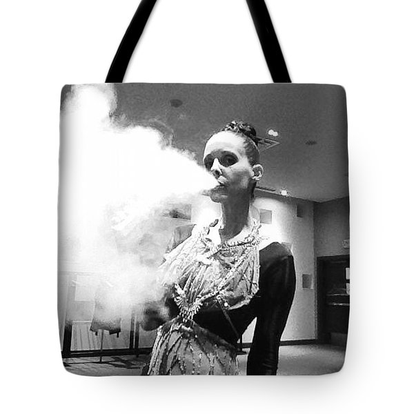 Tote Bag featuring the photograph Red Carpet Vapeing  by Lisa Piper