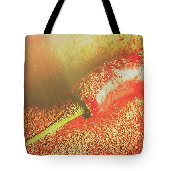 Red Cayenne Pepper In Spicy Seasoning Tote Bag