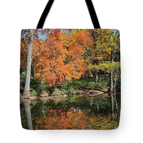 Red Cedar Banks Tote Bag