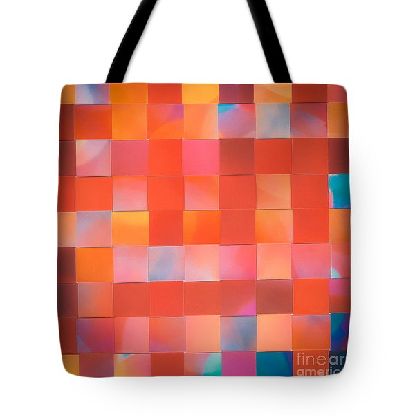 Tote Bag featuring the mixed media Red Check by Jan Bickerton