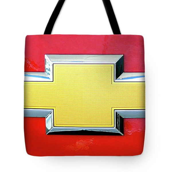 Red Chevy Bowtie Tote Bag