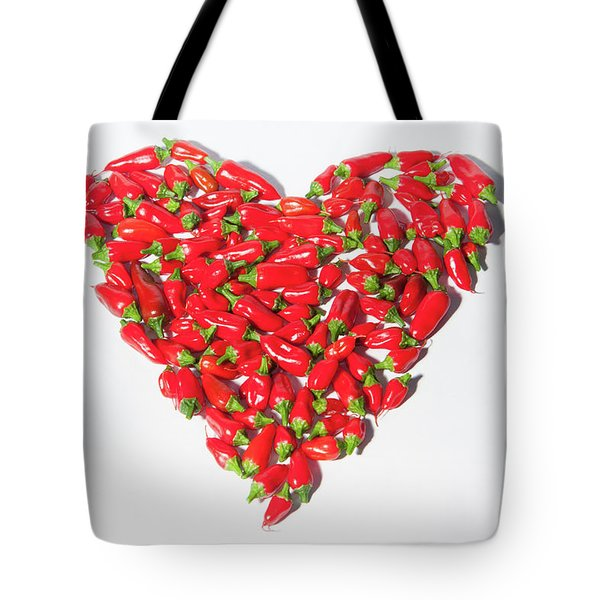 Red Chillie Heart II Tote Bag
