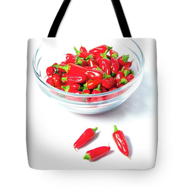 Red Chillies In A Bowl II Tote Bag