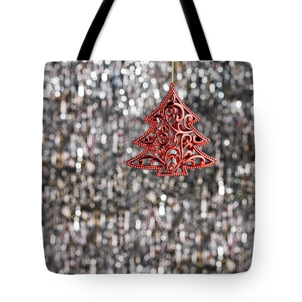 Tote Bag featuring the photograph Red Christmas Tree by Ulrich Schade