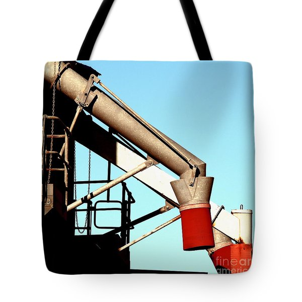 Tote Bag featuring the photograph Red Chutes by Stephen Mitchell