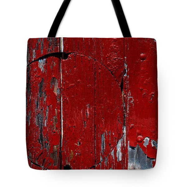 Red Circle Tote Bag