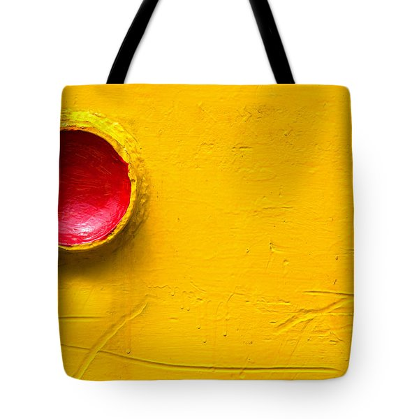 Red Circle In The Corner Tote Bag