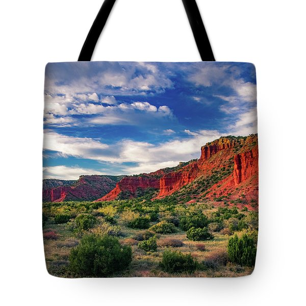 Red Cliffs Of Caprock Canyon 2 Tote Bag