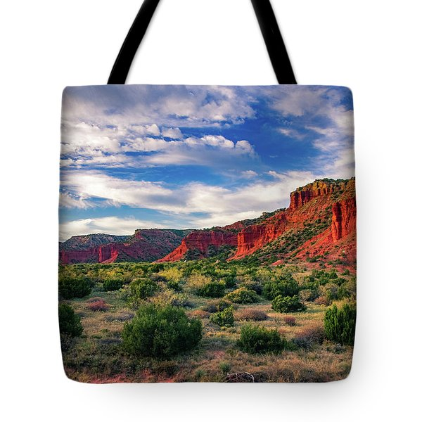 Red Cliffs Of Caprock Canyon Tote Bag