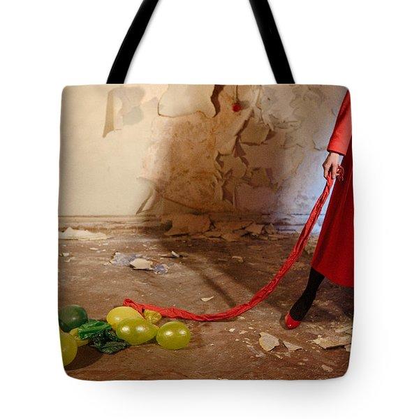 Red Coat #4810 Tote Bag