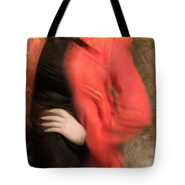 Red Coat #4820 Tote Bag