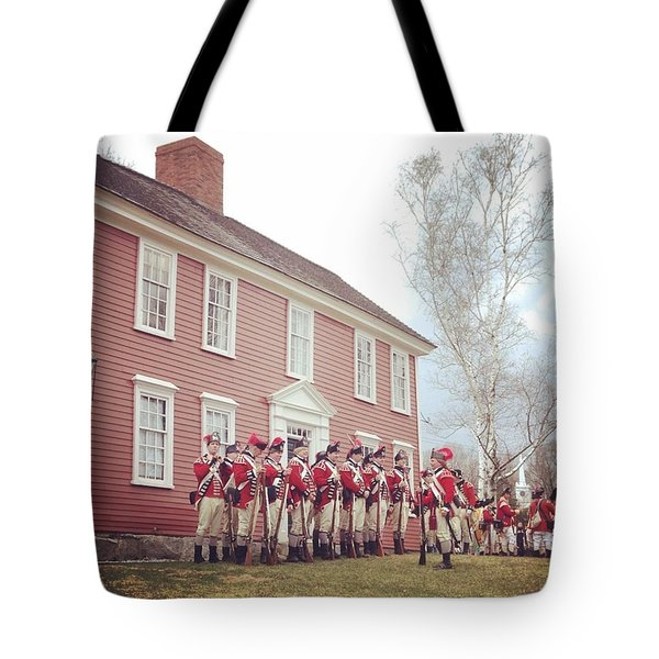 Red Coats Took Munroe Tavern Tote Bag