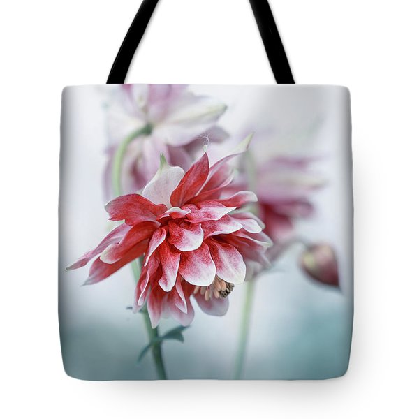 Tote Bag featuring the photograph Red Columbines by Jaroslaw Blaminsky