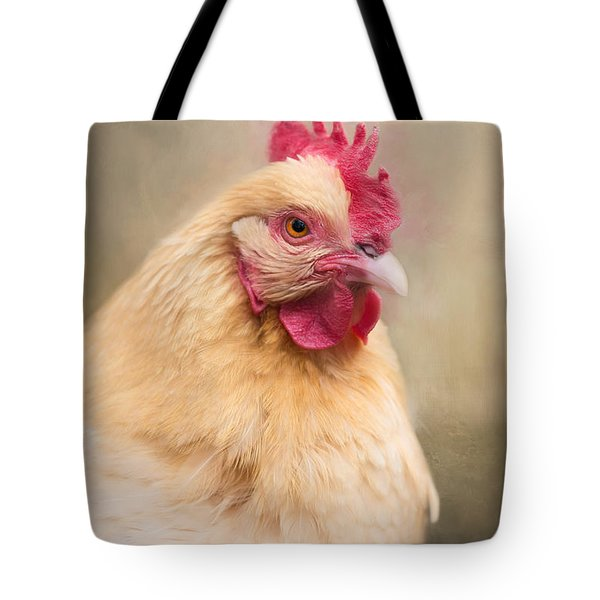 Tote Bag featuring the photograph Red Comb by Robin-Lee Vieira