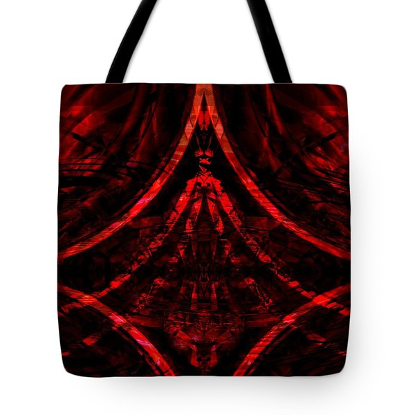 Tote Bag featuring the digital art Red Competition by Art Di