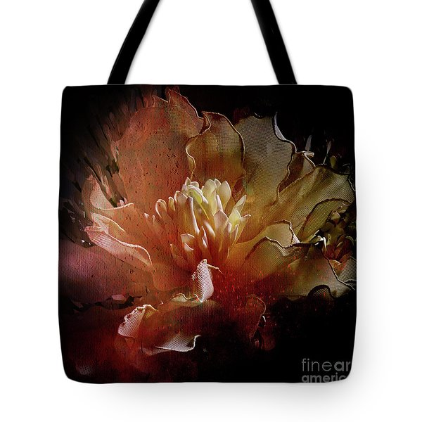 Red Composition Tote Bag by Barbara Dudzinska