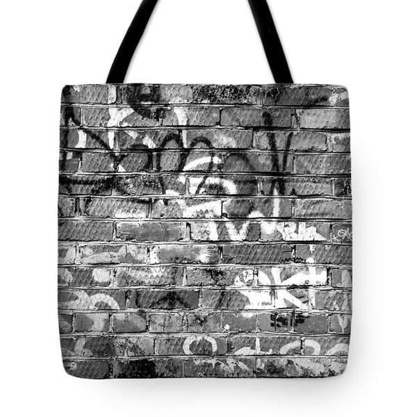 Red Construction Brick Wall And Spray Can Art Signatures Tote Bag