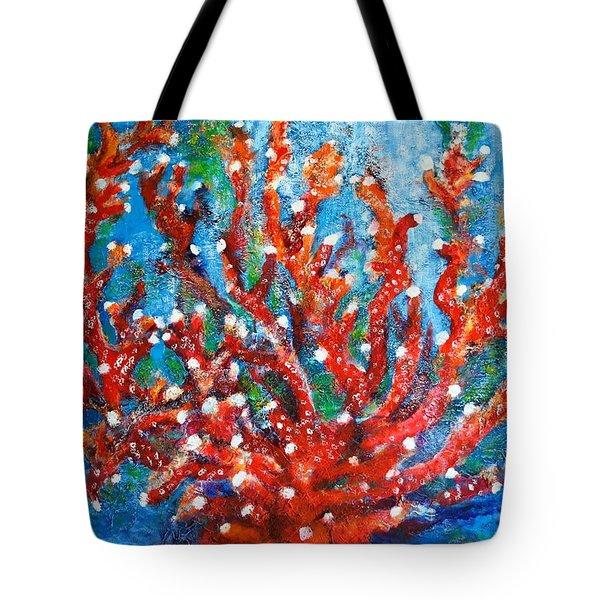 Red Coral Tote Bag by Edgar Torres