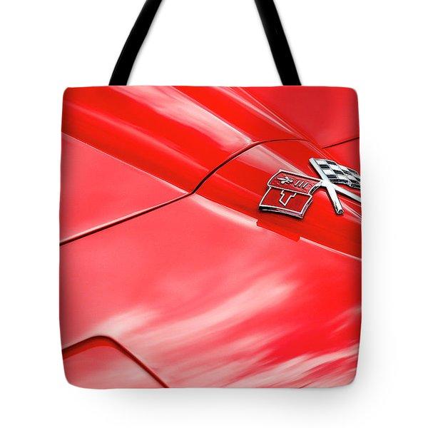 Red Corvette Hood Tote Bag