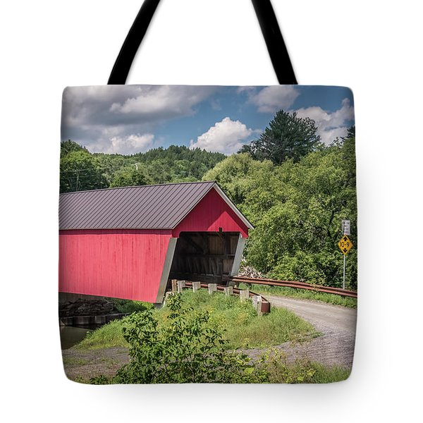 Red Covered Bridge Tote Bag
