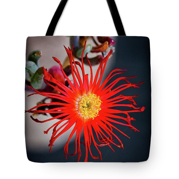 Red Crab Flower Tote Bag