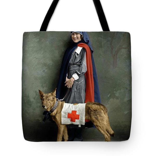 Tote Bag featuring the photograph Red Cross Nurse by Granger