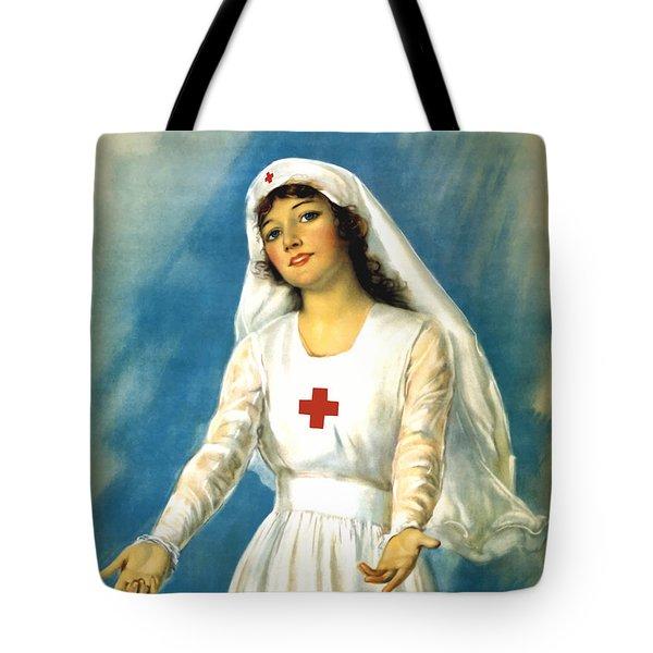 Red Cross Nurse - Ww1 Tote Bag