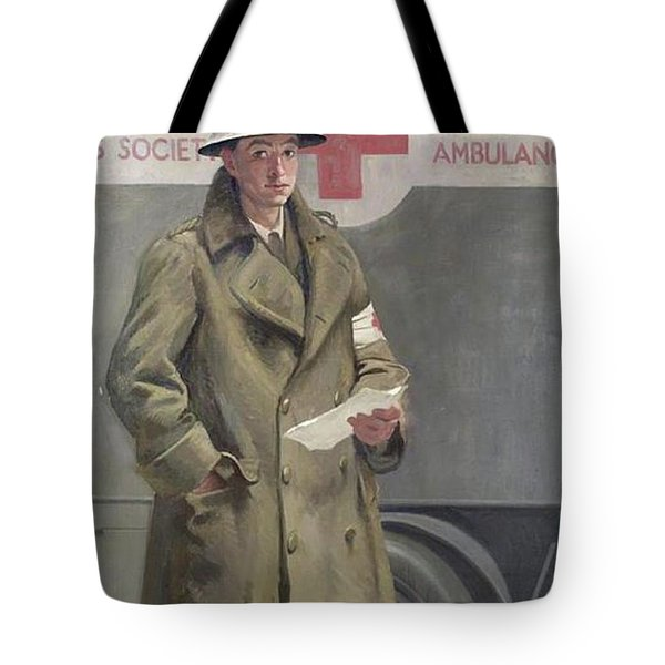 Red Cross Officer In France Tote Bag