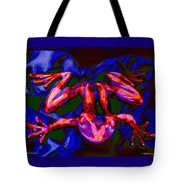 Red Crunchy Frog Tote Bag