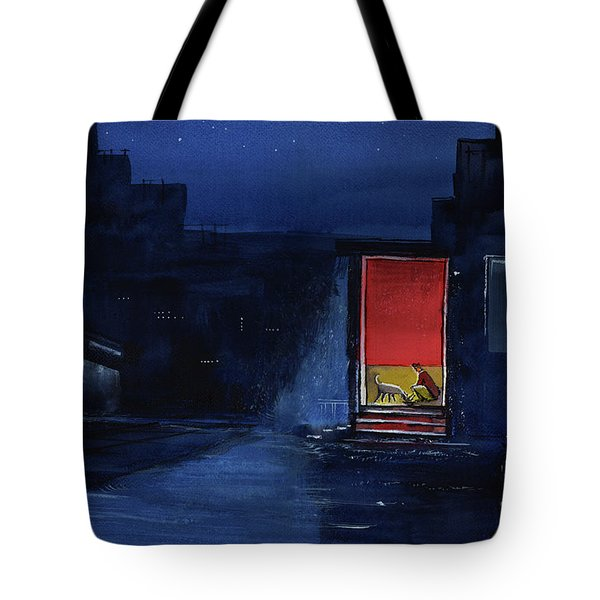 Red Curtain Tote Bag