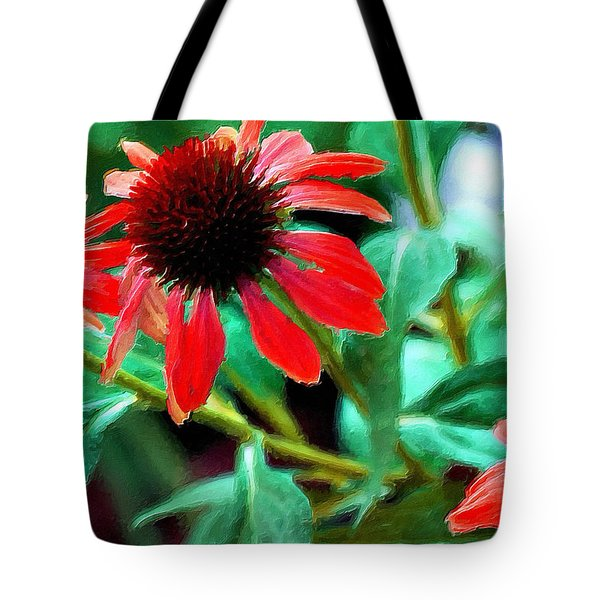 Red Daisies Tote Bag