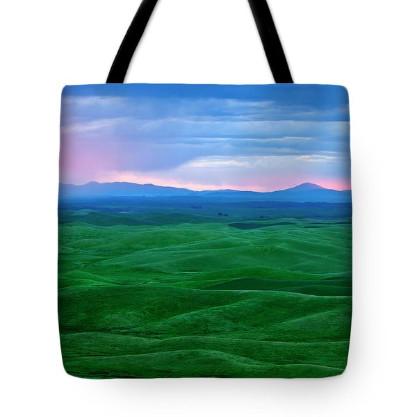 Red Dawn Over The Palouse Tote Bag by Mike  Dawson