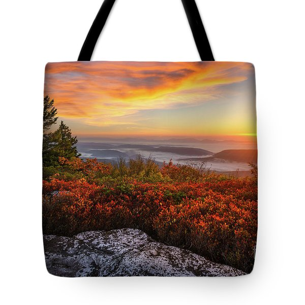 Red Dawn Two Tote Bag by Anthony Heflin