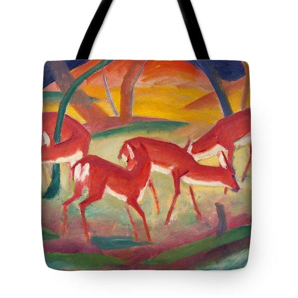 Red Deer One Tote Bag