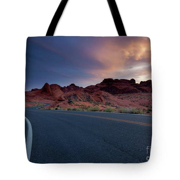 Red Desert Highway Tote Bag
