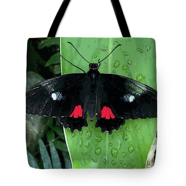 Red Design On Wings Tote Bag
