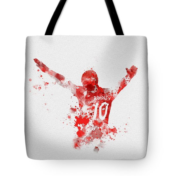 Red Devil Portrait Tote Bag by Rebecca Jenkins