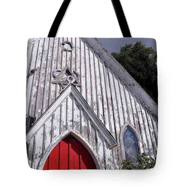 Red Door Tote Bag by Gina Savage