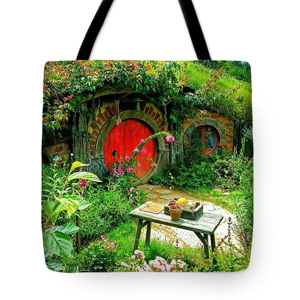 Red Door Hobbit Home Photo Tote Bag