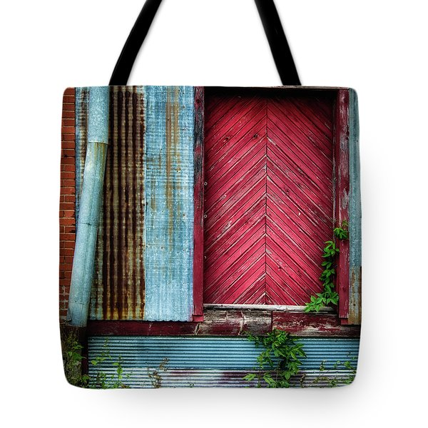 Tote Bag featuring the photograph Red Door by James Barber